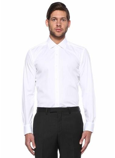 Beymen Club Uzun Kollu Klasik Gömlek Beyaz